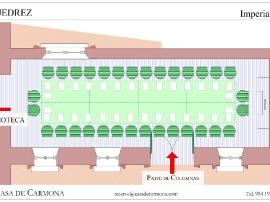 Salón Ajedrez at the Casa de Carmona - Imperial Table for 32 - Plan