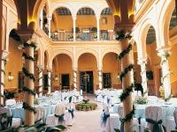 Patio de Columnas montado para una boda