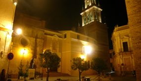 Iglesia de Santa María de Gracia en Carmona, de Noche