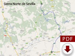 Route Map to the Sierra Norte de Sevilla from Carmona, Click to Open in a New Browser Window