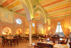 Gracia, the Restaurant at the Casa Palacio de Carmona serves elegant dinners