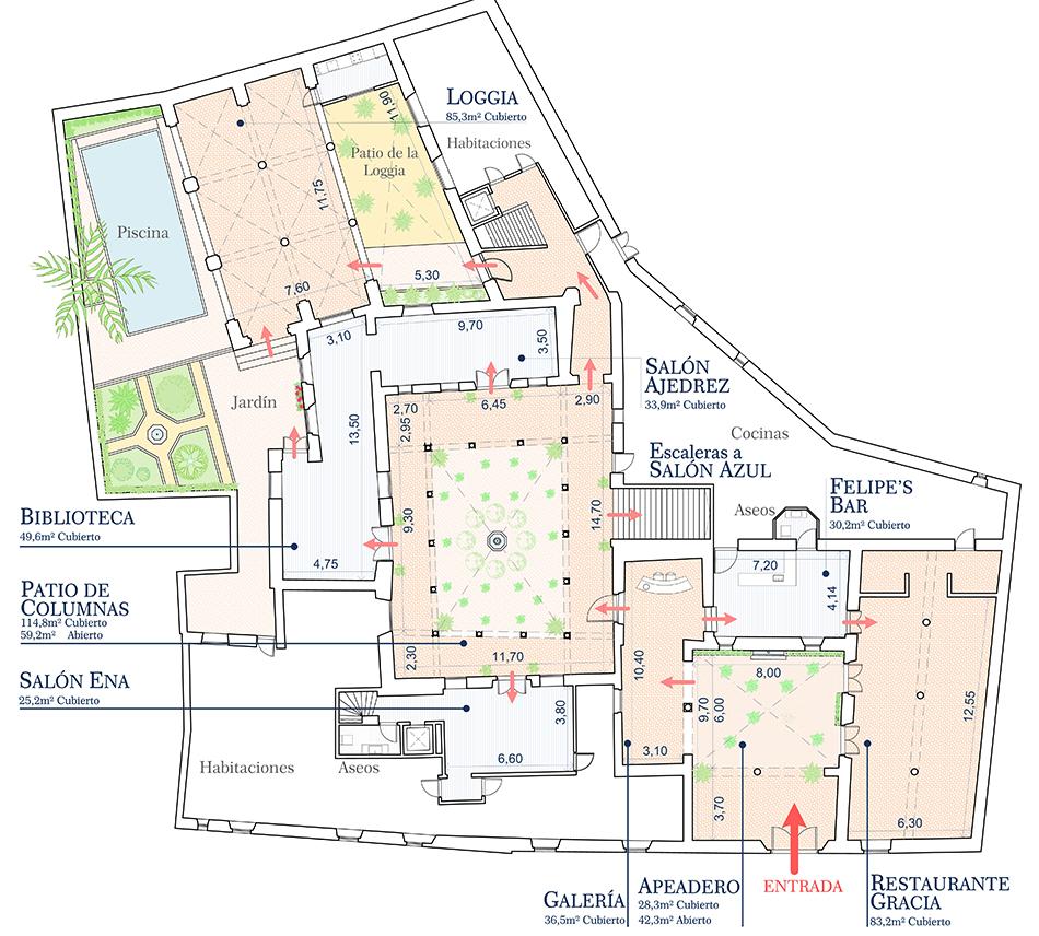 Meetings Corporate Casa Palacio De Carmona Citroen Kes Diagram 5 Elegant Meeting Rooms