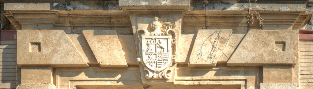 Castillo con Escalera, Leon Rampante, Aragon y Flor de Lis