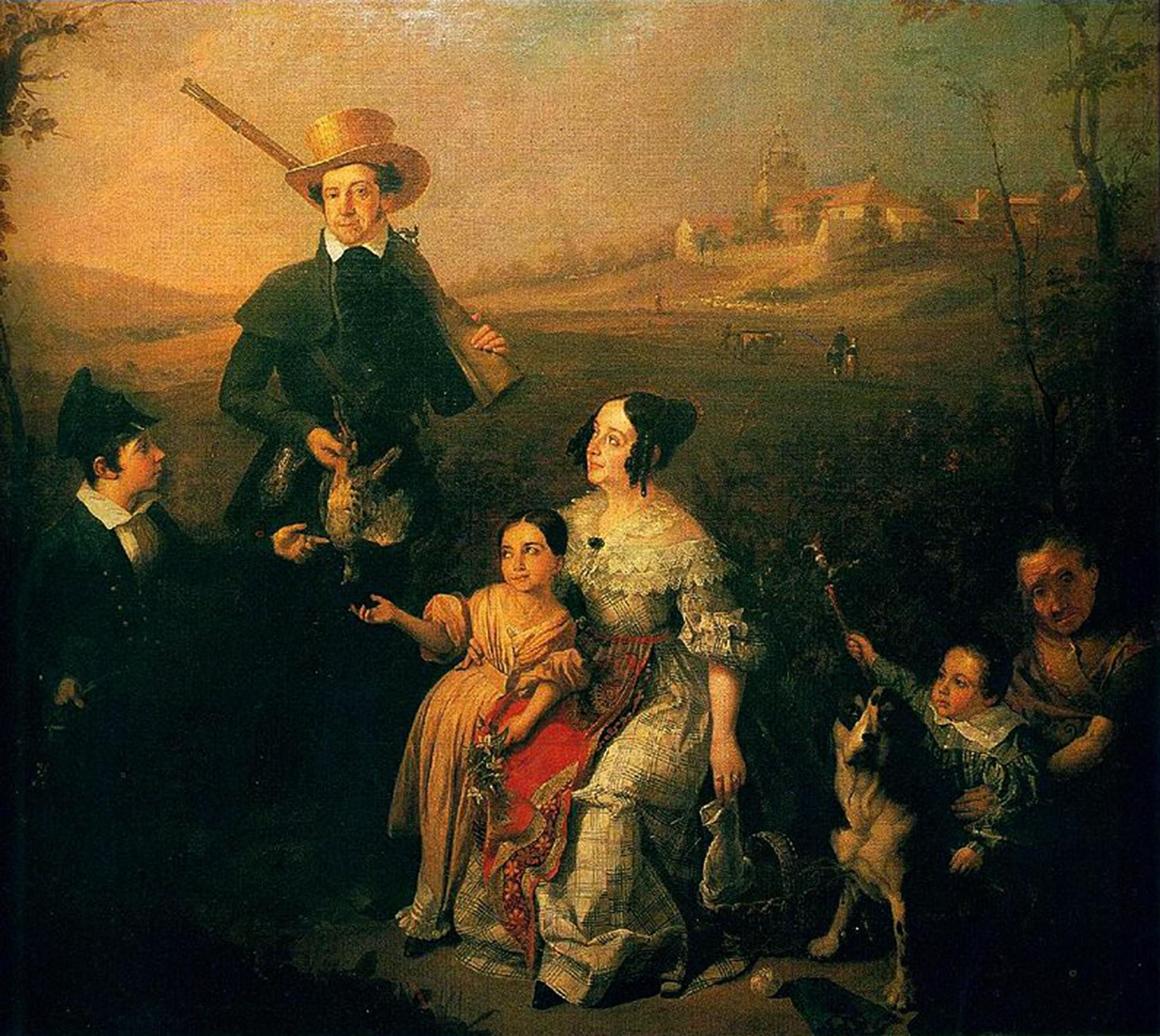 El Marqués de Arco Hermoso y su Familia, de caza en su Hacienda de San Jose de Buenavista en 1838